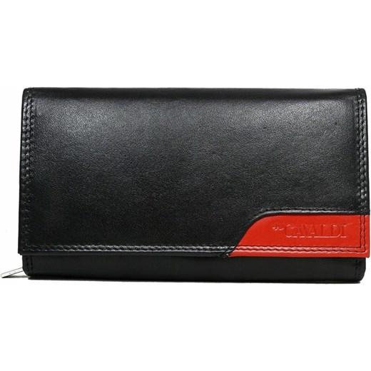 886dbbda97b05 Czarny portfel damski 4U Cavaldi w Domodi