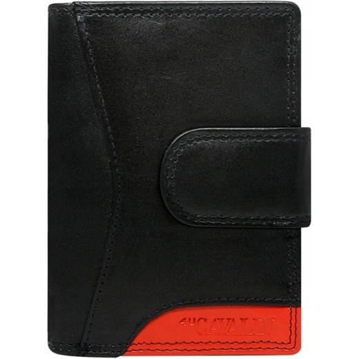4f83e6e31ab40 Czarny portfel damski 4U Cavaldi bez wzorów w Domodi