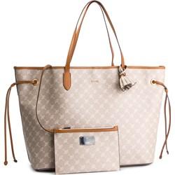 1cd6bd09ba2cc Shopper bag Joop! z nadrukiem na ramię casualowa bez dodatków ...