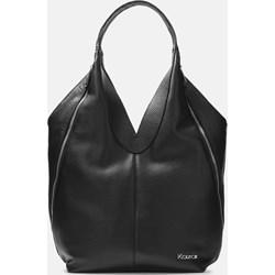 8a3b2d409802c Shopper bag Kazar bez dodatków ze skóry czarna duża
