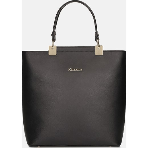 dbc3aa2a8b4d8 Shopper bag Kazar na ramię skórzana mieszcząca a8 matowa bez ...