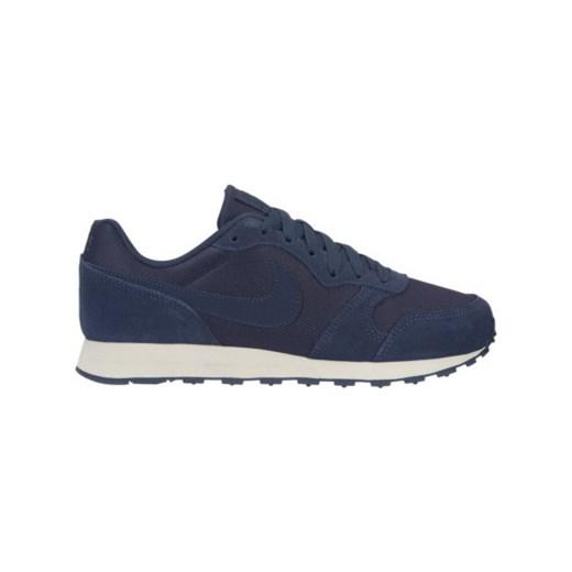 Buty sportowe damskie Nike dla biegaczy md runner bez wzorów na koturnie sznurowane