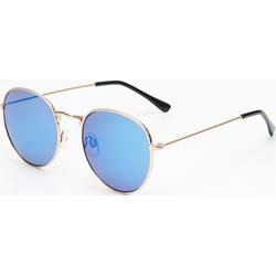 33b6a02b9c7eb0 Niebieskie okulary przeciwsłoneczne damskie cropp, lato 2019 w Domodi