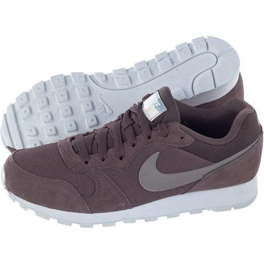 Buty sportowe damskie Nike dla biegaczy md runner wiązane na koturnie zamszowe