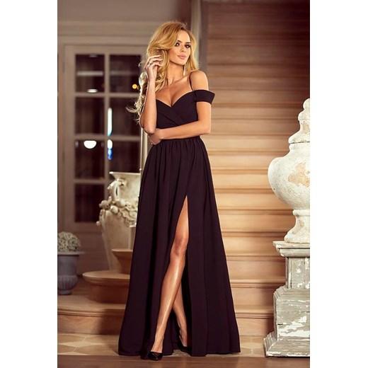 f84344c262 Sukienka Emo Sukienki granatowa na bal na wiosnę maxi elegancka w Domodi