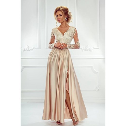 ef71f4fb3b Złota sukienka Emo Sukienki na wiosnę maxi na bal elegancka w Domodi