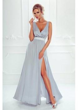 Sukienka Stella długa wieczorowa - szary Emo Sukienki  Pawelczyk24.pl - kod rabatowy