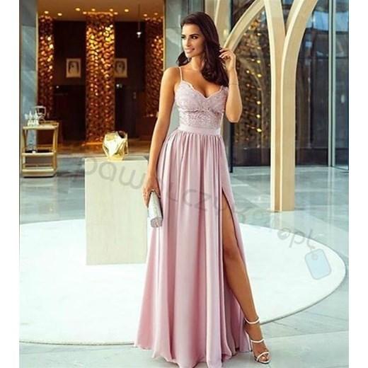 80d319ffb2 Emo Sukienki sukienka maxi z dekoltem v w kwiaty na ramiączkach na bal na  karnawał