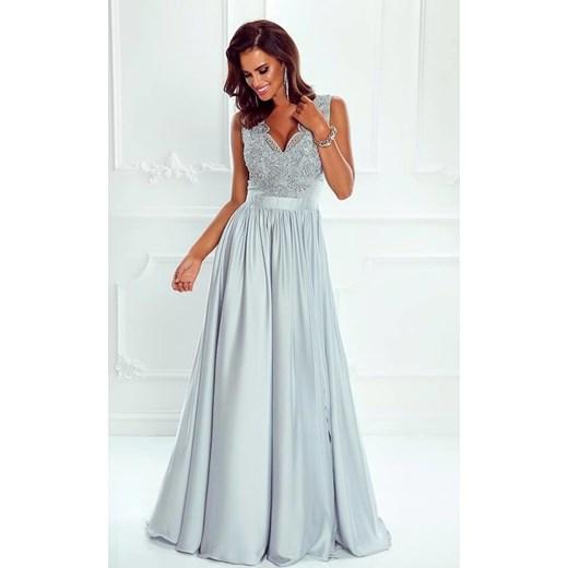 056dd11fd4 Niebieska sukienka Emo Sukienki maxi na bal w Domodi