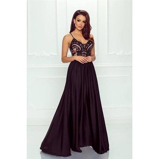 9600910b94 Sukienka różowa Emo Sukienki karnawałowa maxi na bal z dekoltem v w ...