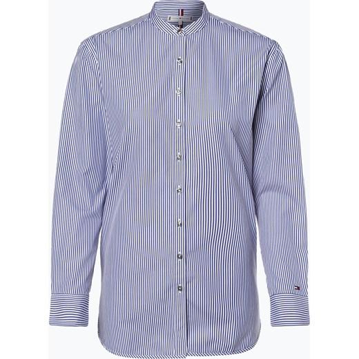 a230aa8afd4cbd Niebieska koszula damska Tommy Hilfiger w paski z długimi rękawami w ...