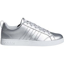 d09d868535a9 Trampki damskie Adidas sportowe bez wzorów srebrne z niską cholewką  sznurowane