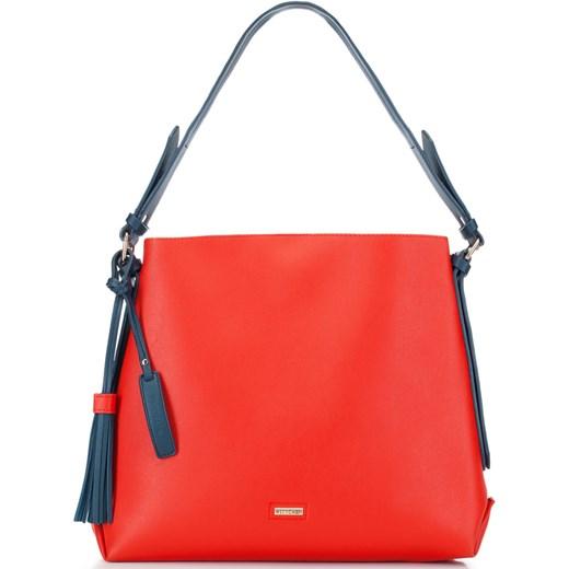 e8d6f4569a2d0 Shopper bag Wittchen ze skóry ekologicznej na ramię duża matowa w Domodi
