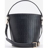 106694883c616 Granatowa shopper bag Reserved z tłoczeniem na ramię mieszcząca a5