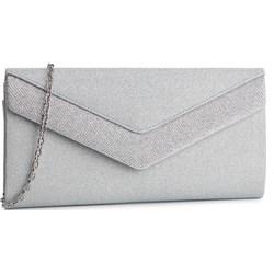 Kopertówka Menbur elegancka srebrna mała bez dodatków matowa na ... 86a0eec796f