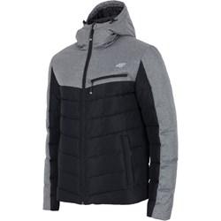 7d9c1c2375554 Czarna kurtka męska 4F poliestrowa na zimę