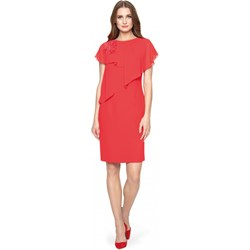 9b9784cc4e Sukienka Potis   Verso czerwona wiosenna na wesele midi