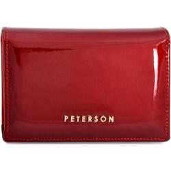 682c9653791d9 Portfel damski Peterson czerwony bez wzorów