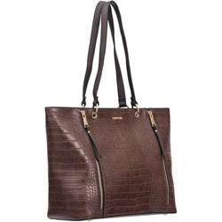 95251737b949d Shopper bag Puccini mieszcząca a4 na ramię bez dodatków ze skóry