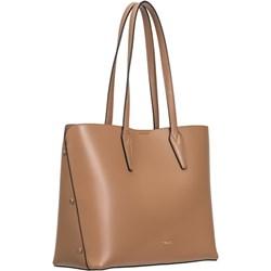 047197333d4a8 Beżowa shopper bag Puccini na ramię bez dodatków duża