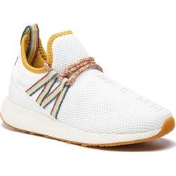 19886b08ca852 Sneakersy damskie białe Pepe Jeans wiązane z tworzywa sztucznego  młodzieżowe ...