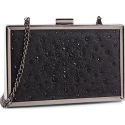 cec89656733ff Kopertówka Menbur elegancka czarna matowa na ramię