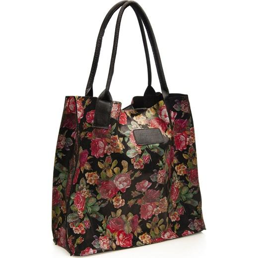 0fb5593632ea6 ... skórzana bez dodatków; Shopper bag Arturo Vicci duża wielokolorowa w  stylu młodzieżowym ...