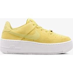4aabe60e9b107 Buty sportowe damskie Nike do biegania air force żółte na koturnie bez  wzorów