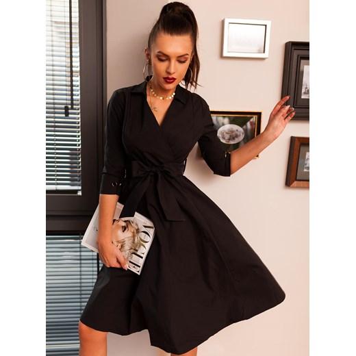 37f3943564 Selfieroom sukienka casualowa czarna na co dzień z poliestru z ...