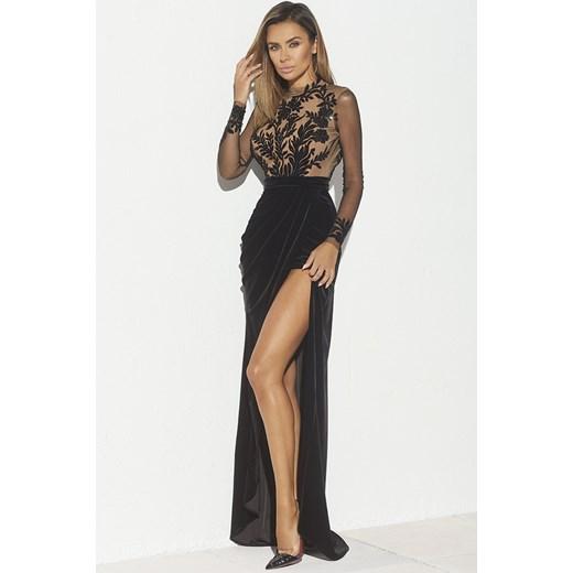 33dd8dca64 Sukienka Lou Women`s Fashion maxi z długimi rękawami w Domodi