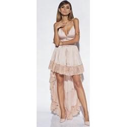 25a5456eae Sukienka Lou Women`s Fashion na sylwestra midi asymetryczna na ramiączkach  z dekoltem v