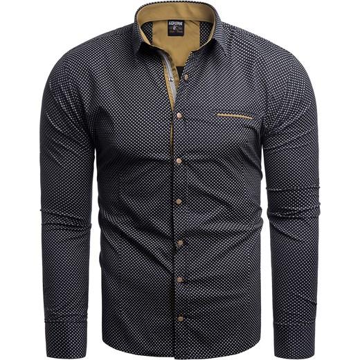 8a1e33fb0585f6 Risardi koszula męska jesienna z długim rękawem z klasycznym ...