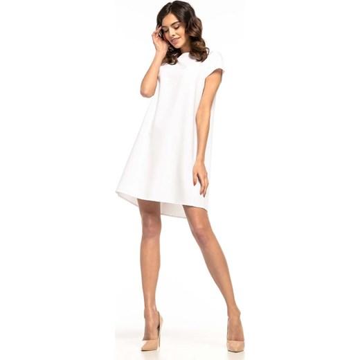 c308018ce3 Sukienka biała Tessita z krótkim rękawem midi trapezowa w Domodi