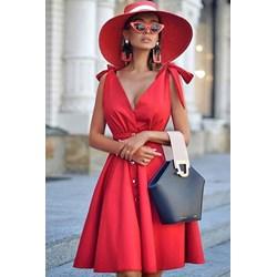 404d4243b9 Czerwone sukienki rozkloszowane