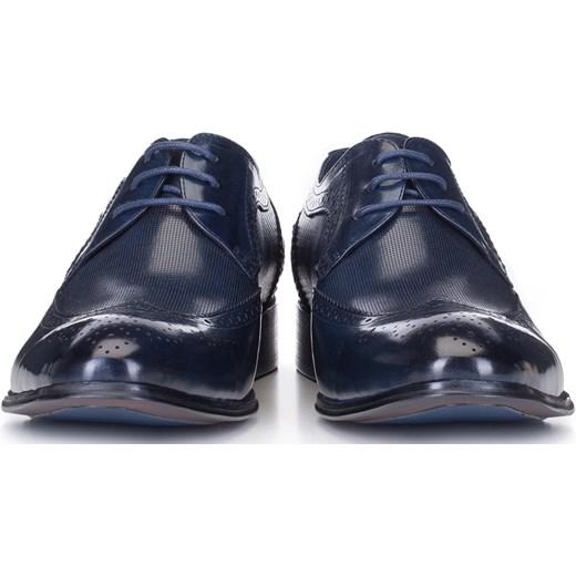 buty męskie eleganckie granatowe wyprzedaż
