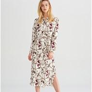 37795020d7 Sukienka Reserved z kołnierzykiem z długim rękawem