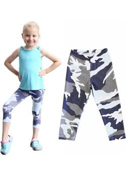 Legginsy getry dziecięce 3/4 moro szaro-seledynowe Rennwear  rennwear.com - kod rabatowy