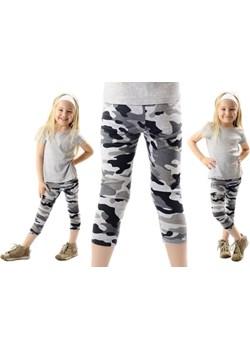 Legginsy dziecięce getry 3/4 moro szare Rennwear  rennwear.com - kod rabatowy