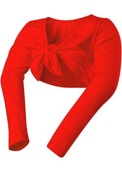 BOLERKO wiązane dla dziewczynki BAWEŁNA czerwone Rennwear  RENN - kod rabatowy