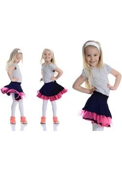 Czarna rozkloszowana spódniczka dla dziewczynki, wykończona tiulem i lamówką  Rennwear rennwear.com - kod rabatowy