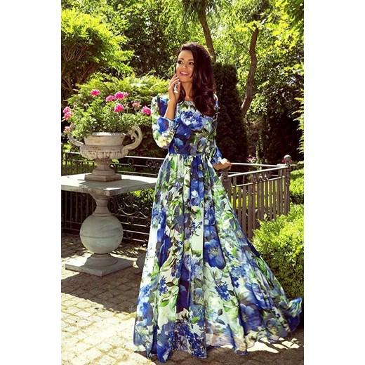 40c098df Sukienka Emo Sukienki z długimi rękawami rozkloszowana w kwiaty maxi