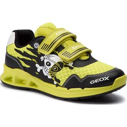 aa235788d5083 Zielone buty sportowe dziecięce geox, wiosna 2019 w Domodi