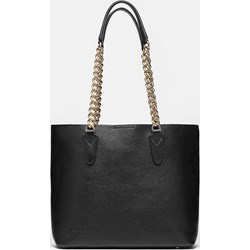 32f6de19b3a26 Shopper bag Kazar elegancka duża czarna skórzana