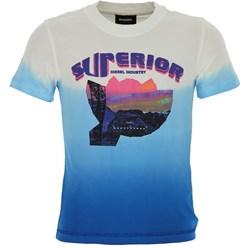 0de3422a11d27 T-shirt chłopięce Diesel z krótkim rękawem w nadruki