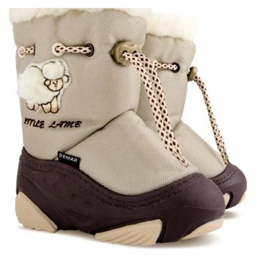 6184dd65f7145 Buty zimowe dziecięce Demar śniegowce wełniane z nadrukami w Domodi