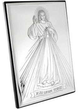 Obrazek srebrny z wizerunkiem Jezusa 800014L na Chrzest Św. Valenti  Bovem - kod rabatowy