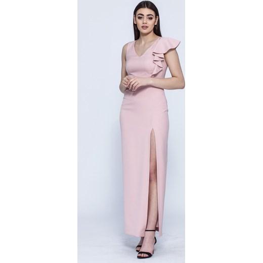 5e2fefff75 ... Sukienka Vissavi na spotkanie biznesowe maxi bez wzorów bez rękawów  ołówkowa
