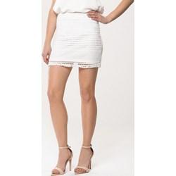 075c856ab80b58 Born2be spódnica elegancka mini biała gładka