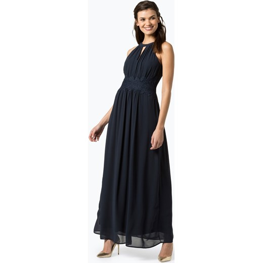 5e59868b5a8f Granatowa sukienka Vila maxi elegancka karnawałowa na bal bez rękawów