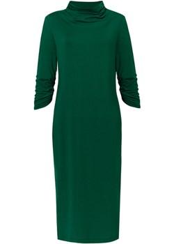 sukienka WATERFALLS DRESS zielona - uszyta w Łodzi Risk Made In Warsaw   - kod rabatowy